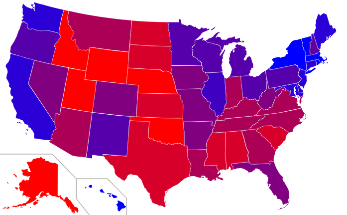 Red-and-Blue-State-map